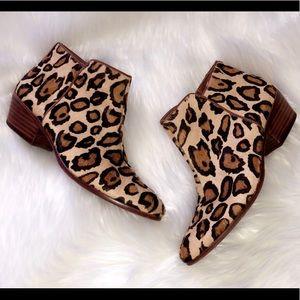 SAM EDELMAN Leather Cheetah Booties